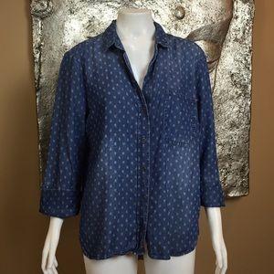 Cloth & Stone   Chambray   Size Medium   W22